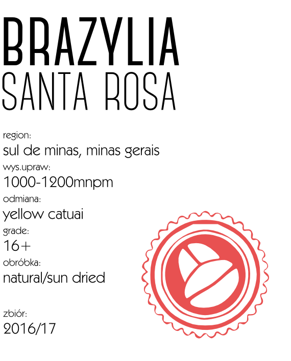 Kawa Brazylia Santa Rosa