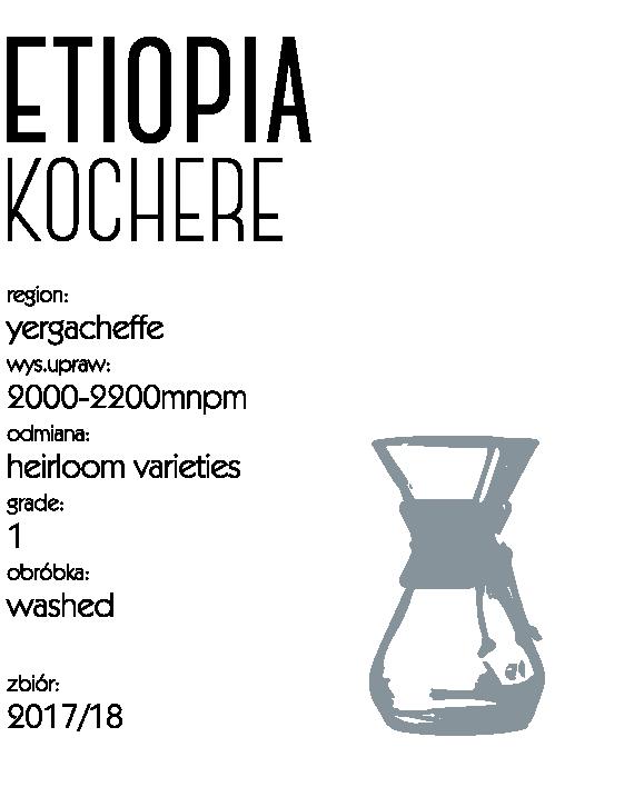 kawa speciality etiopia kochere drip