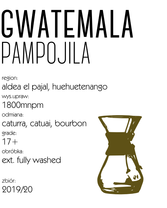 Kawa Speciality Gwatemala Pampojila Drip