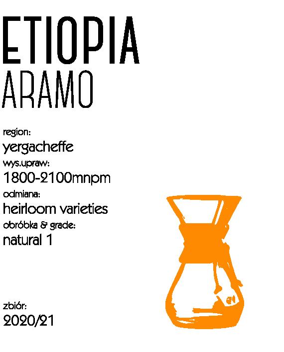 kawa speciality etiopia aramo natural drip