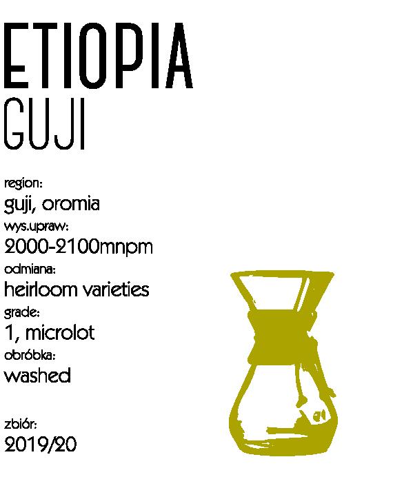 Kawa speciality Etiopia Guji drip